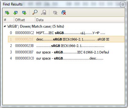 Find results in Disk Editor