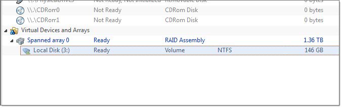 Virtual RAID item in Recovery Explorer. Active@ UNDELETE