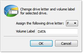 Create Partition dialog